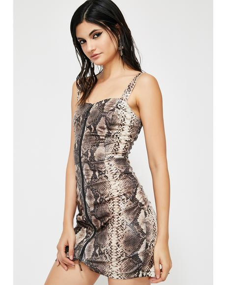 Punk Python Mini Dress