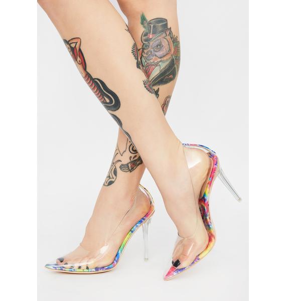 Psycho-delic Lover Clear Heels