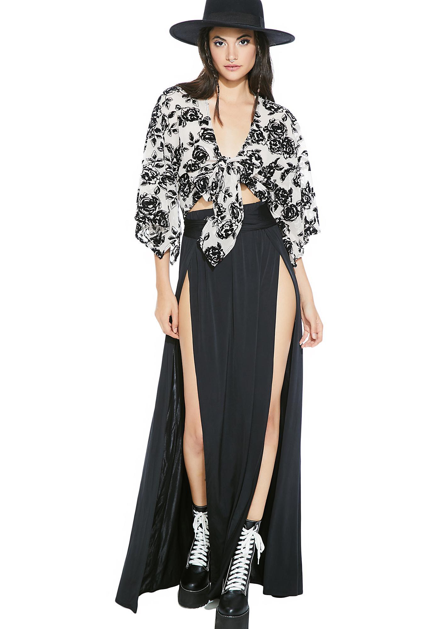 Black Dollia Floral Blouse