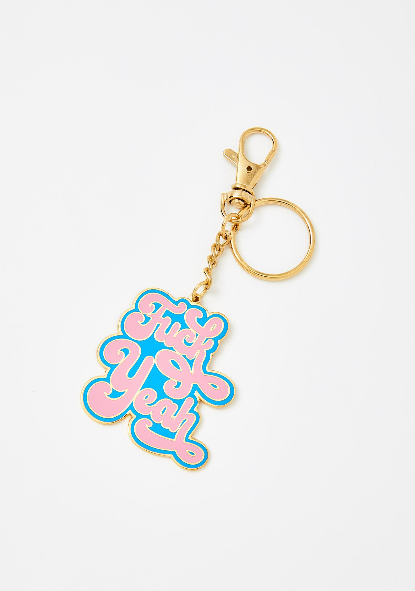 Made Au Gold Blue Fuck Yeah Keychain