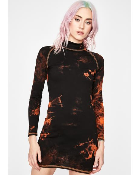 Fallen Phoenix Bodycon Dress