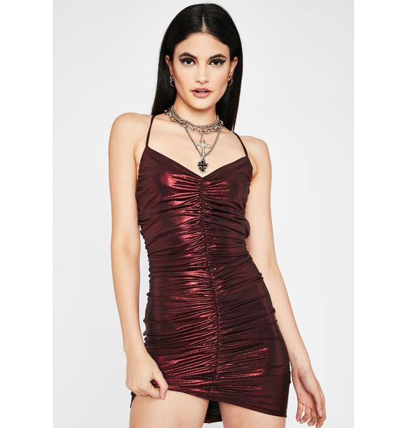 City Slicker Ruched Mini Dress