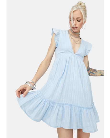 Just For Kicks Ruffle Babydoll Dress