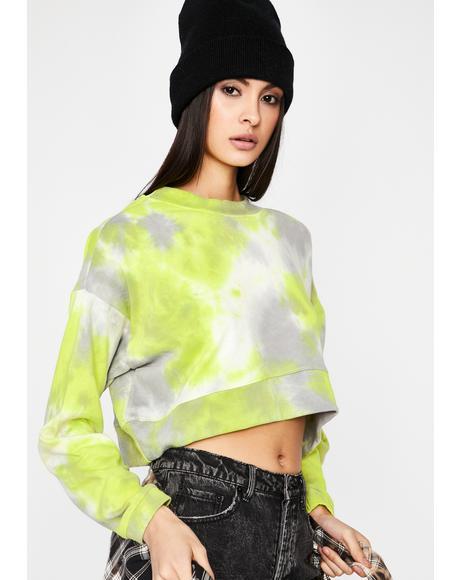 Lime In The Mix Crop Sweatshirt