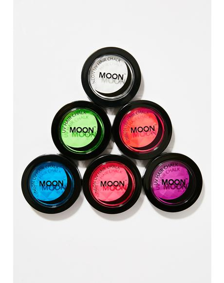 Neon Intense Red UV Hair Chalk