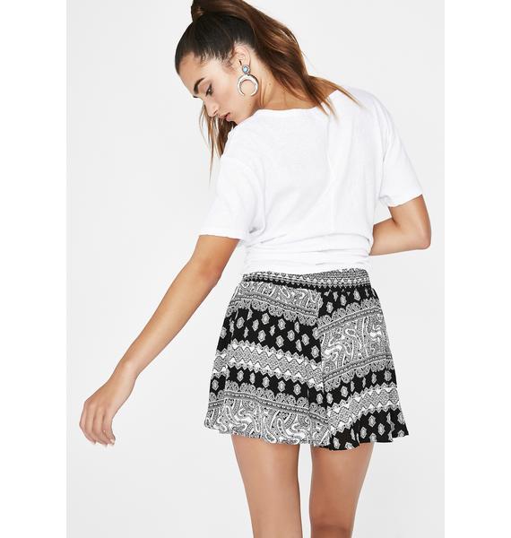 Around The World Printed Shorts