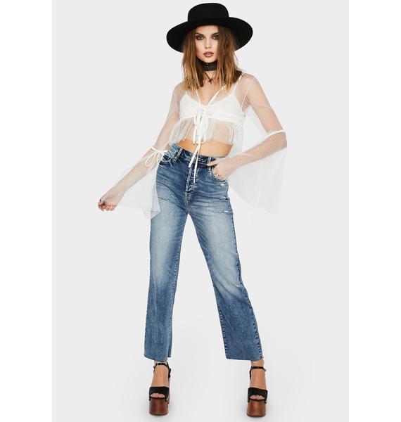 Hidden Denim Tracey Distressed Mom Jeans
