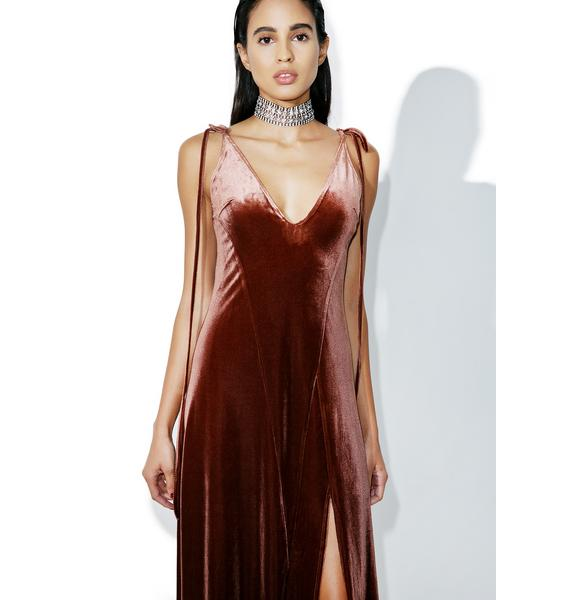 Copper So Swanky Maxi Dress