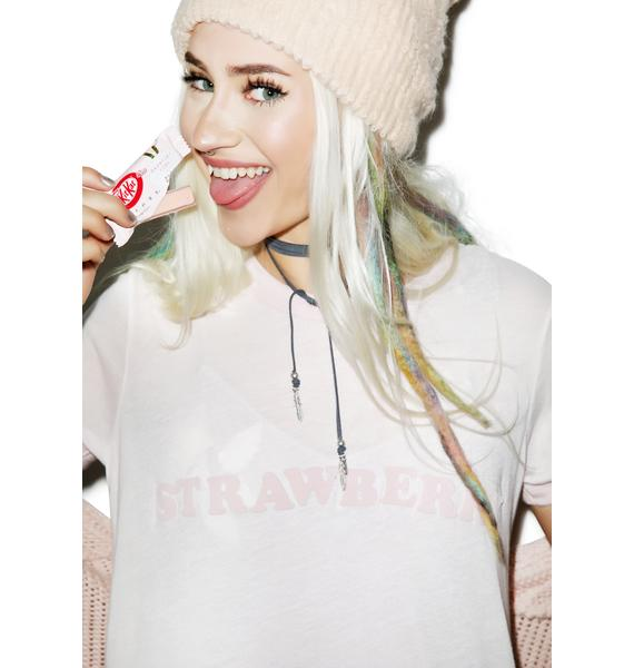 Wildfox Couture Strawberry Vintage Ringer Tee