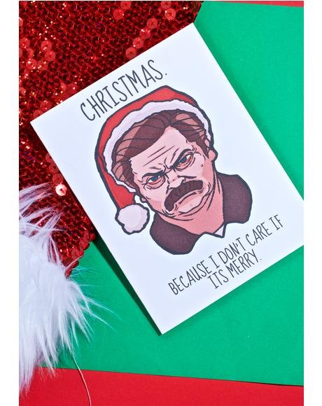 Swanson Scrooge Christmas Card