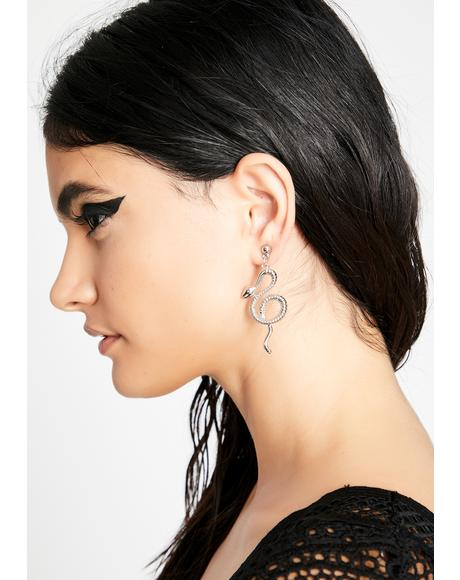 Sikk N' Twisted Snake Earrings