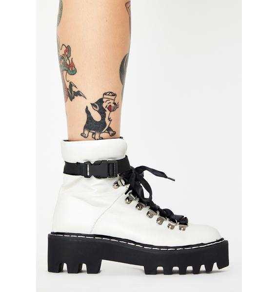 Lamoda White Real Talk Ankle Boots