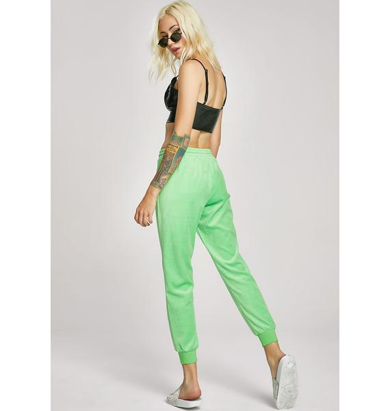 Lime Malibu Princess Velour Lounge Pant