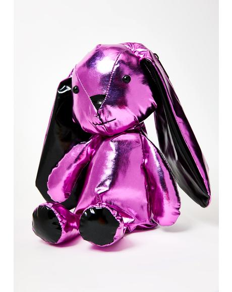 Bossy Bass Bunny Metallic Backpack
