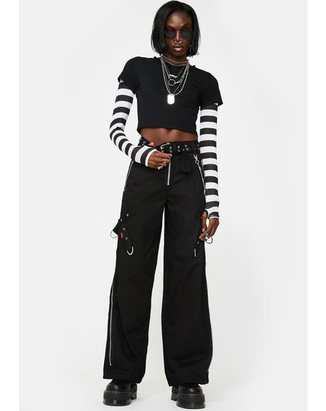 Super Side Zip Wide Leg Pants
