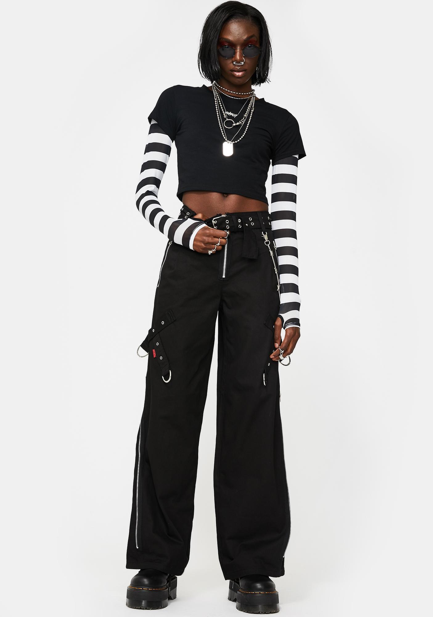 Tripp NYC Super Side Zip Wide Leg Pants