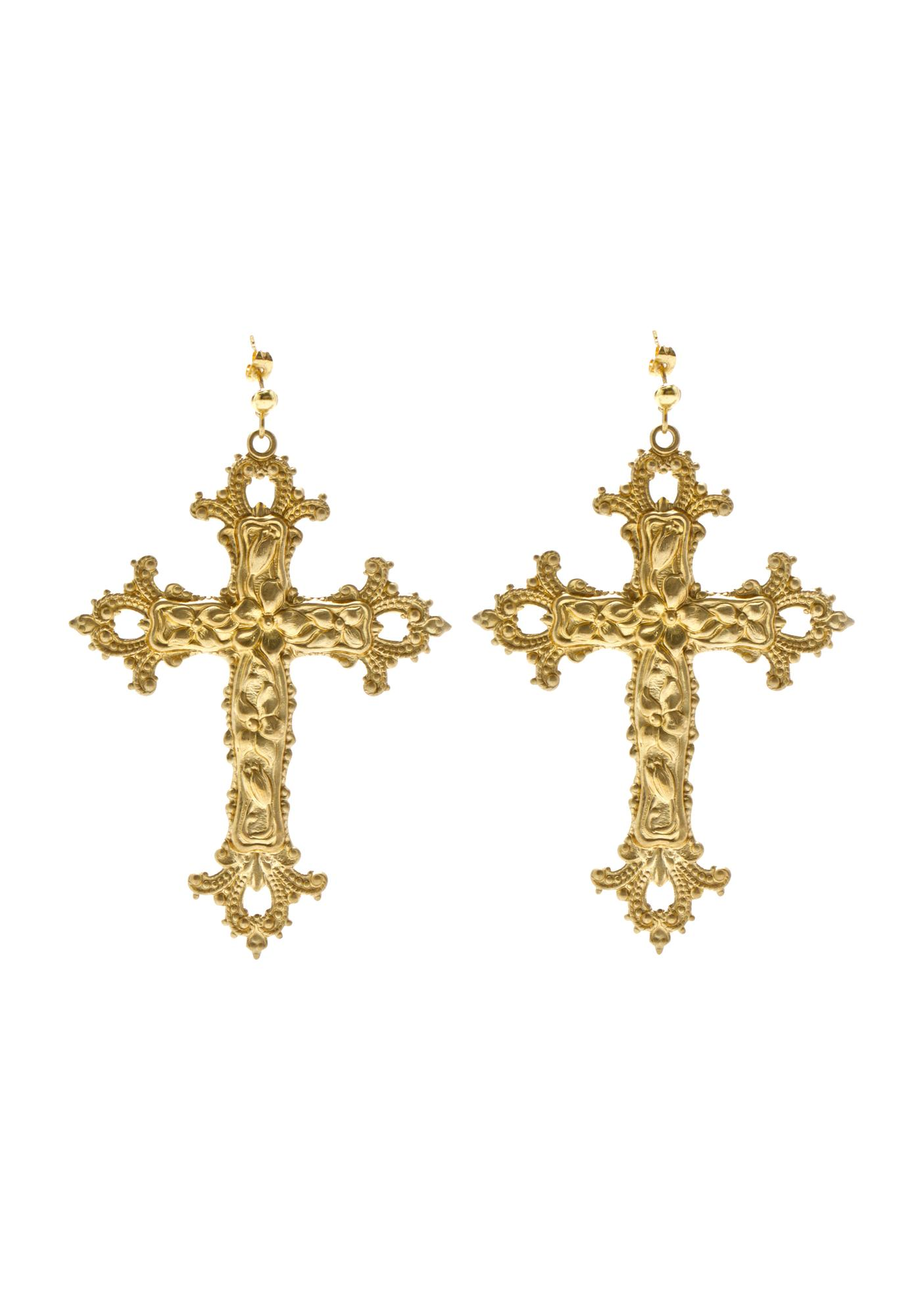 Rock n Rose Gabriella Cross Earrings