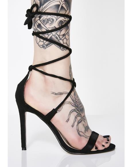 Venus Heart Suede High Heels