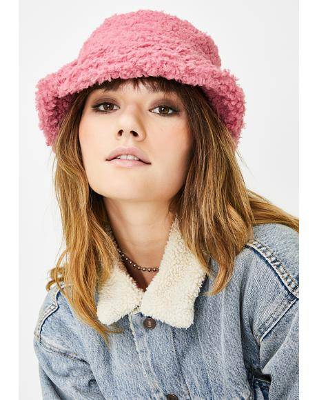 Sweet Nifty Gags Faux Fur Bucket Hat