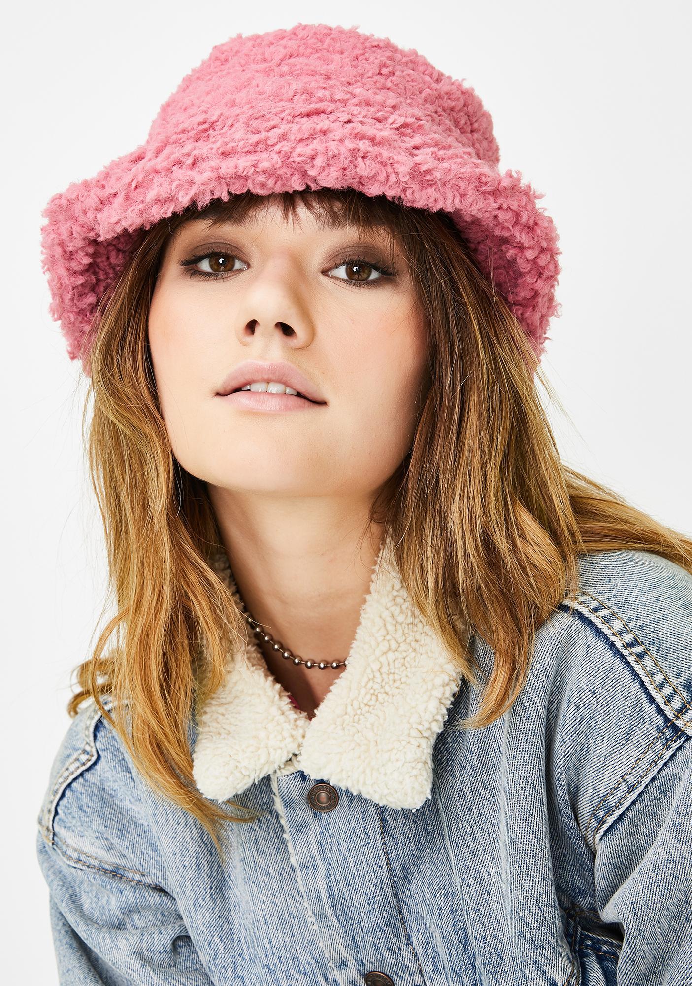 Sweet Nifty Gags Faux Fur Bucket Hat