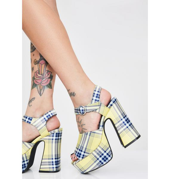Sugar Thrillz Totally Clueless Platform Heels