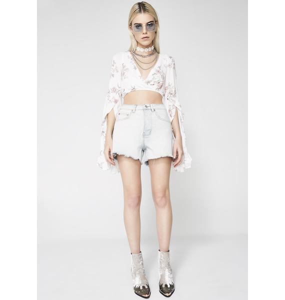 Snap Ya Fingahs Denim Shorts
