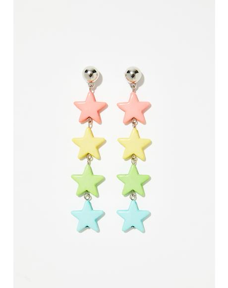 Star Shine Drop Earrings
