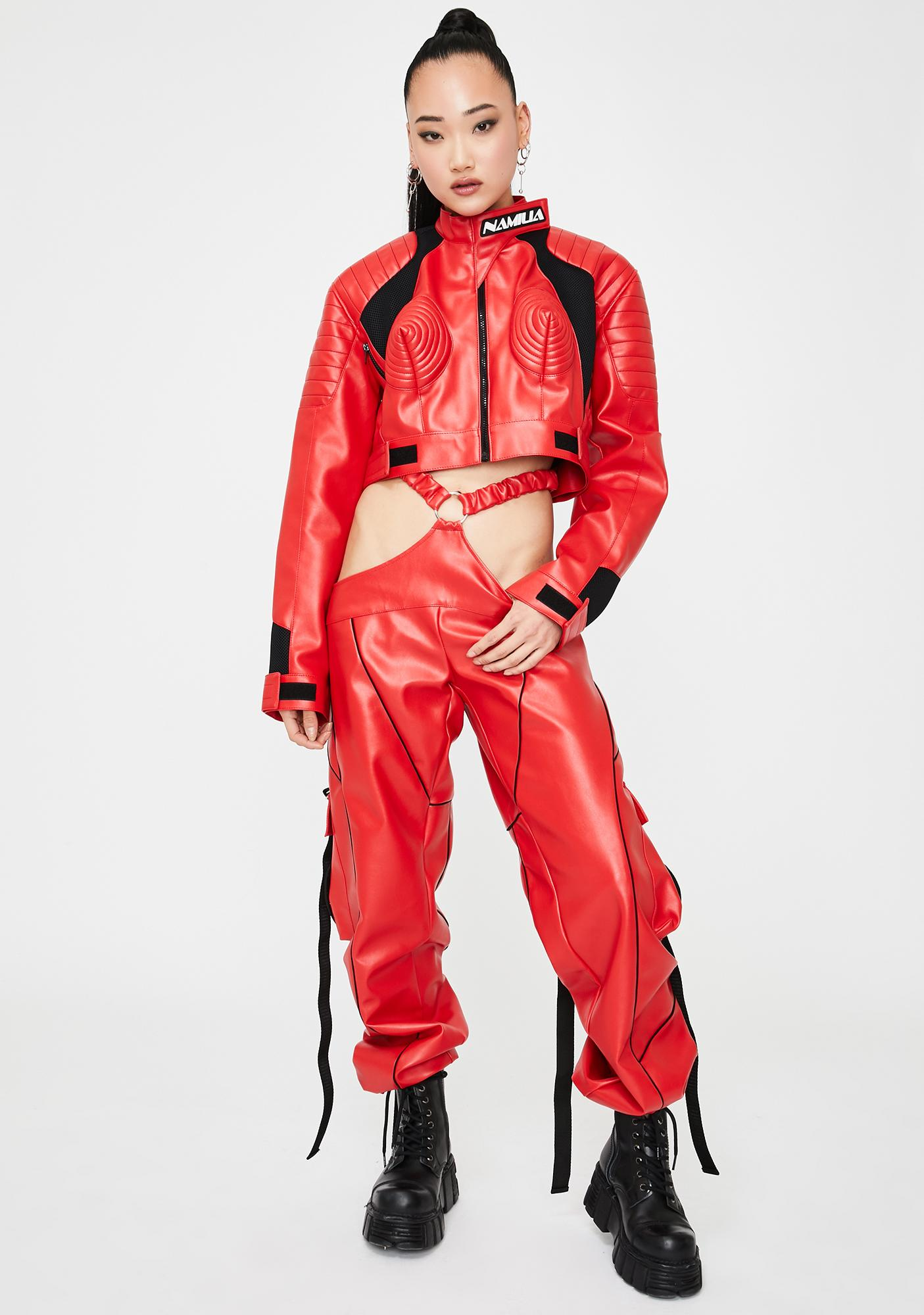 Namilia Red Motocross Cone Jacket