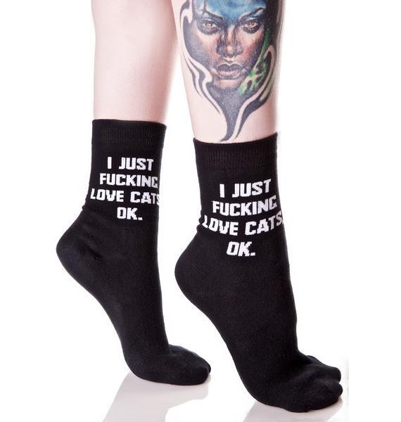 Killstar Cats Ankle Socks