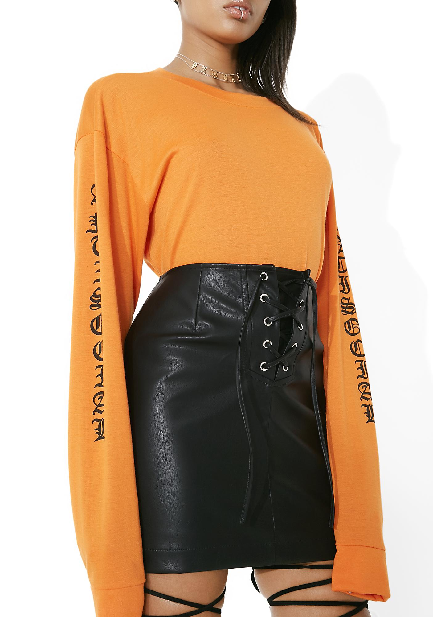 Try Me Lace-Up Skirt