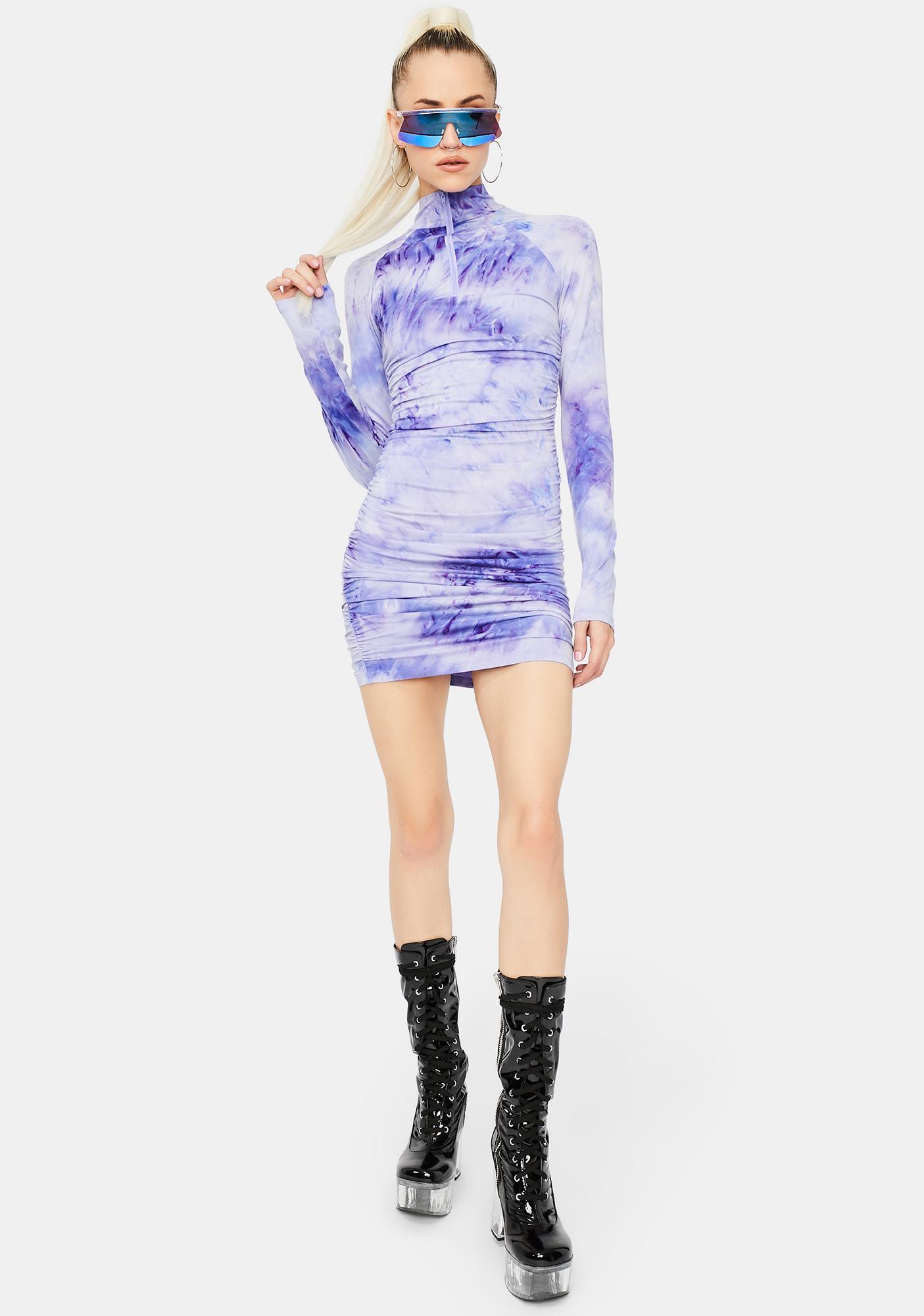 Need Back Up Mock Neck Bodycon Dress