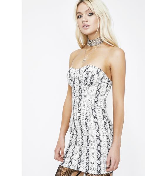 Sneak Up On 'Em Bustier Dress