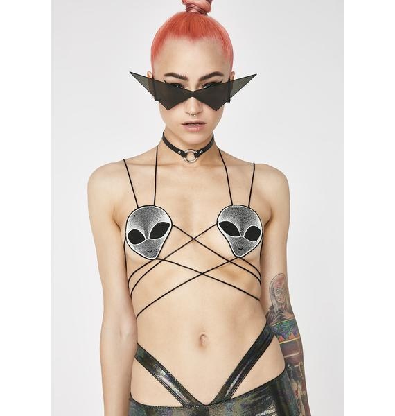 Club Exx Take Me To Your Leader Bra Top