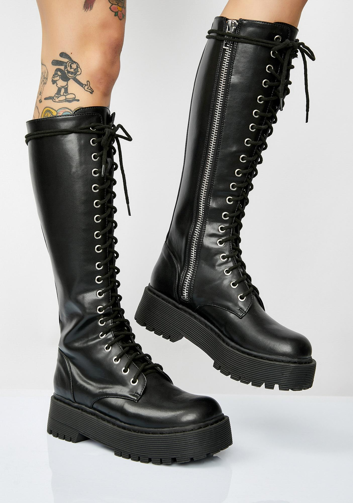 f5cbca48c Current Mood Violation Knee High Boots