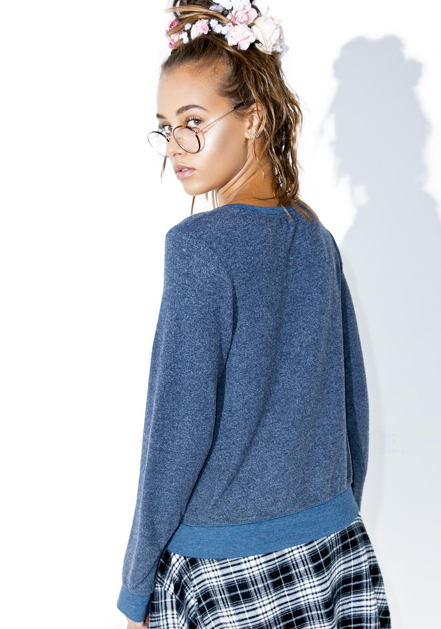 Wildfox Couture Faded Love Baggy Beach Jumper