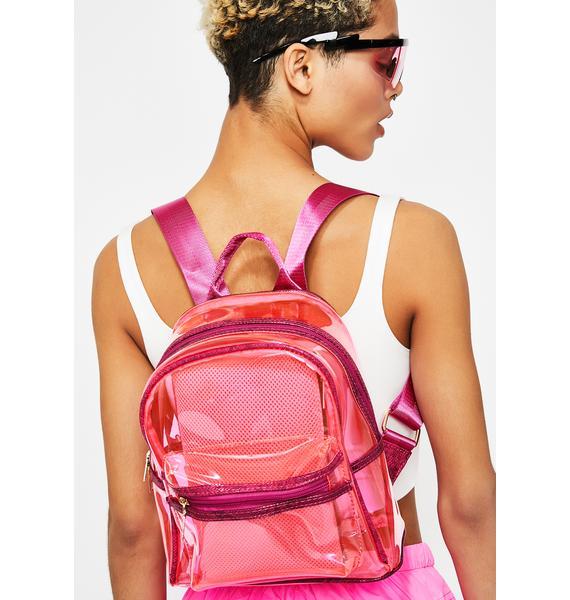 Lady Vile Stash Clear Backpack