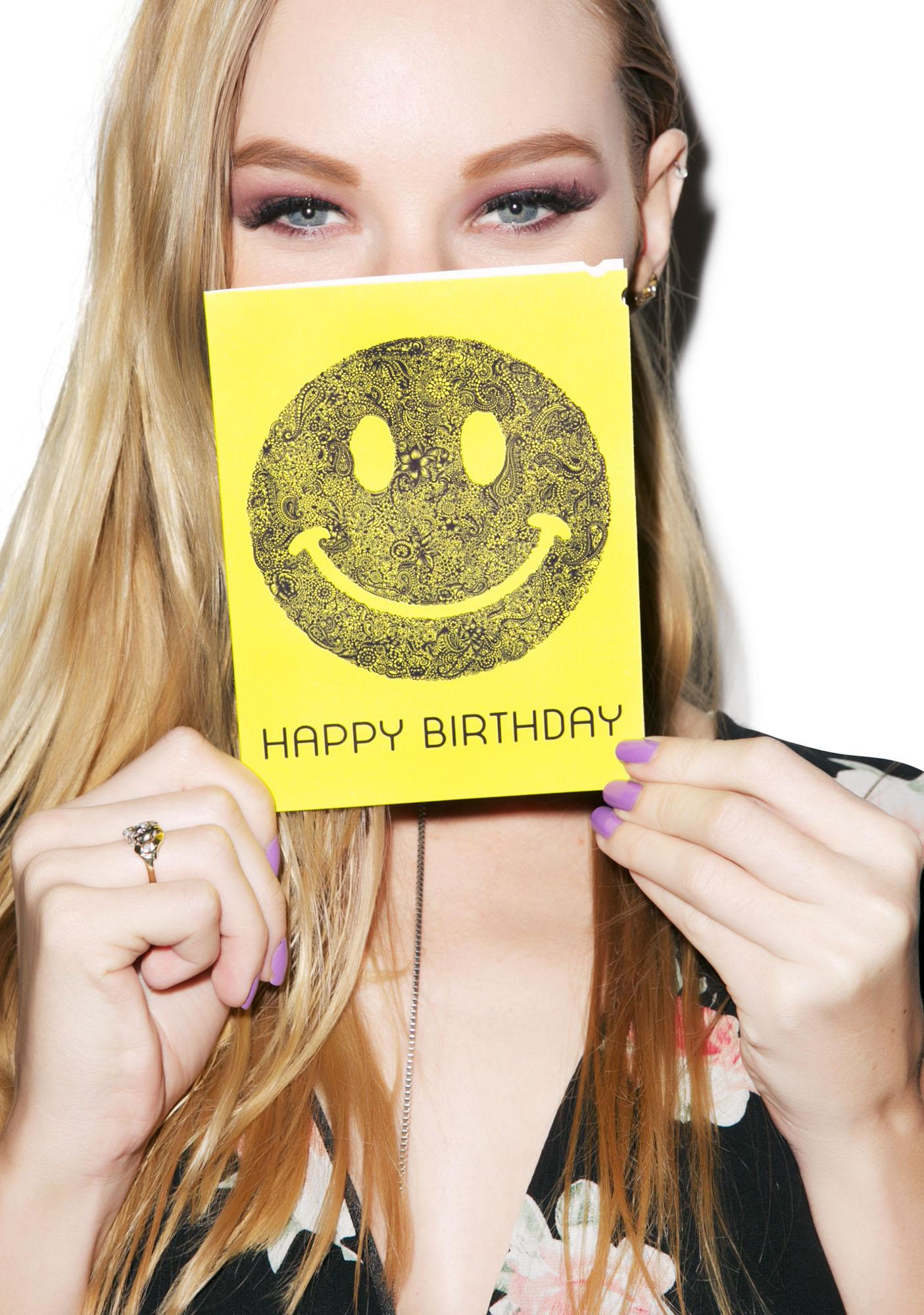 Lauren Moshi Happy Birthday Smiley Face Greeting Card