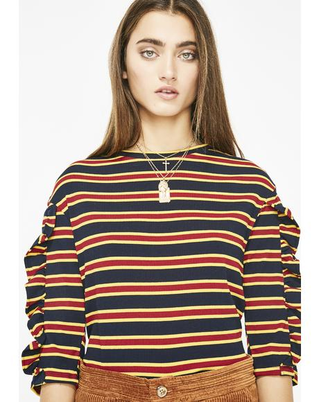 On The Scene Striped Top