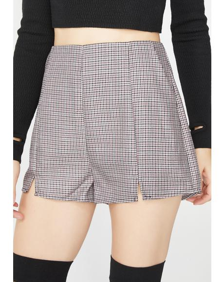 Bad Grl Plaid Shorts