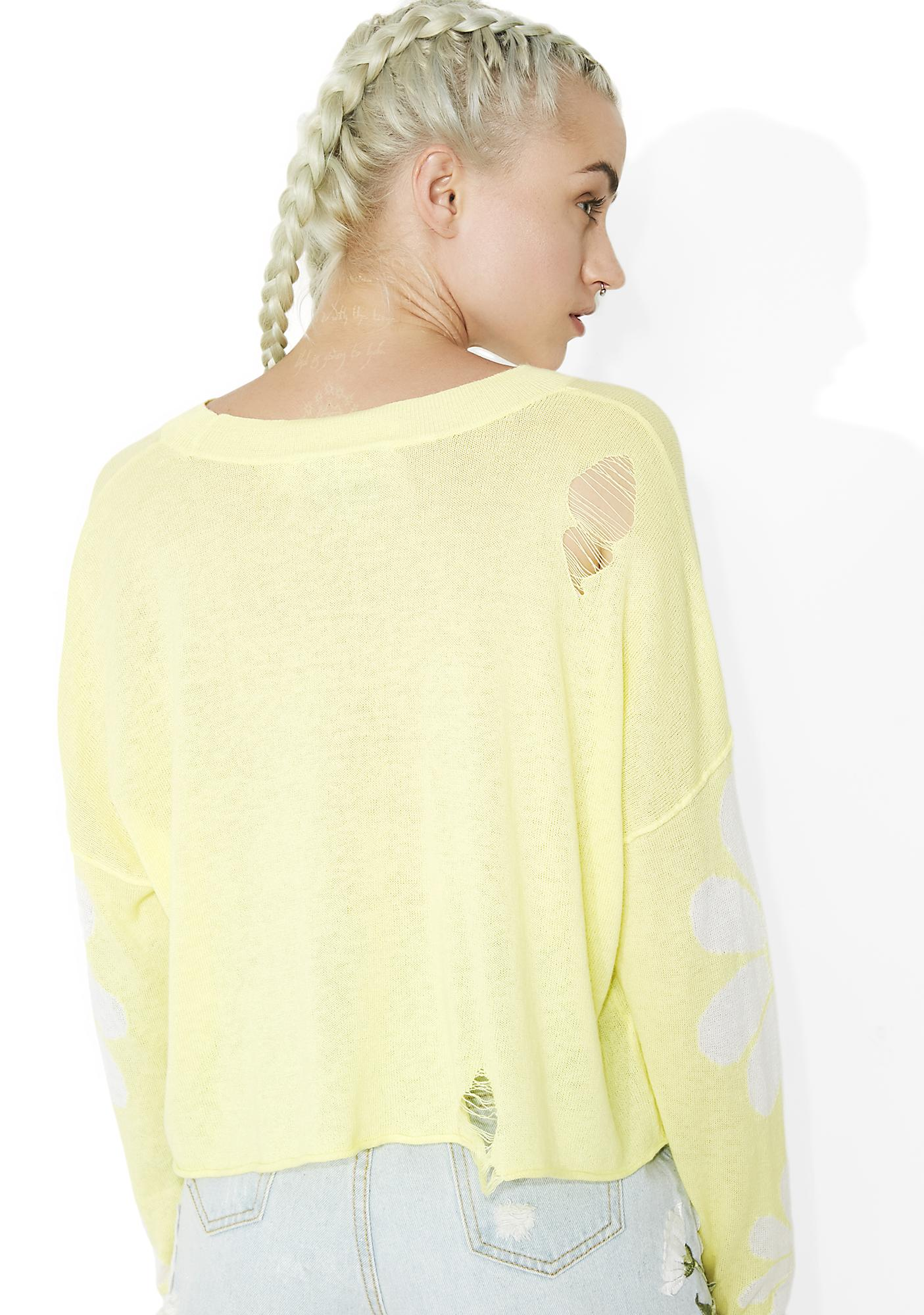 Wildfox Couture Daisy Fields Powell Sweater
