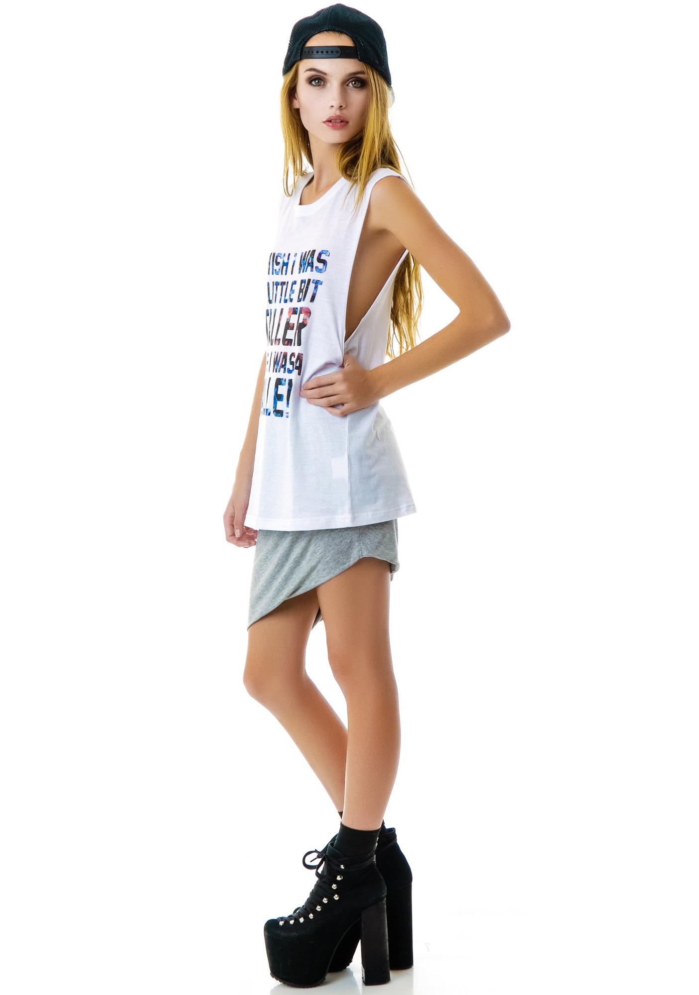 Stylestalker Little Bit Taller Sleeveless Tee