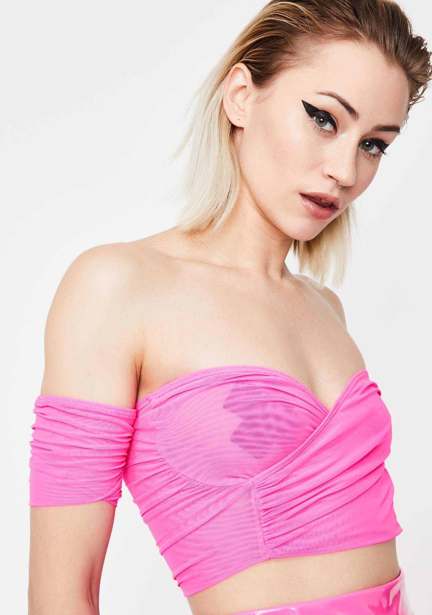 Real Feisty Off-The-Shoulder Top