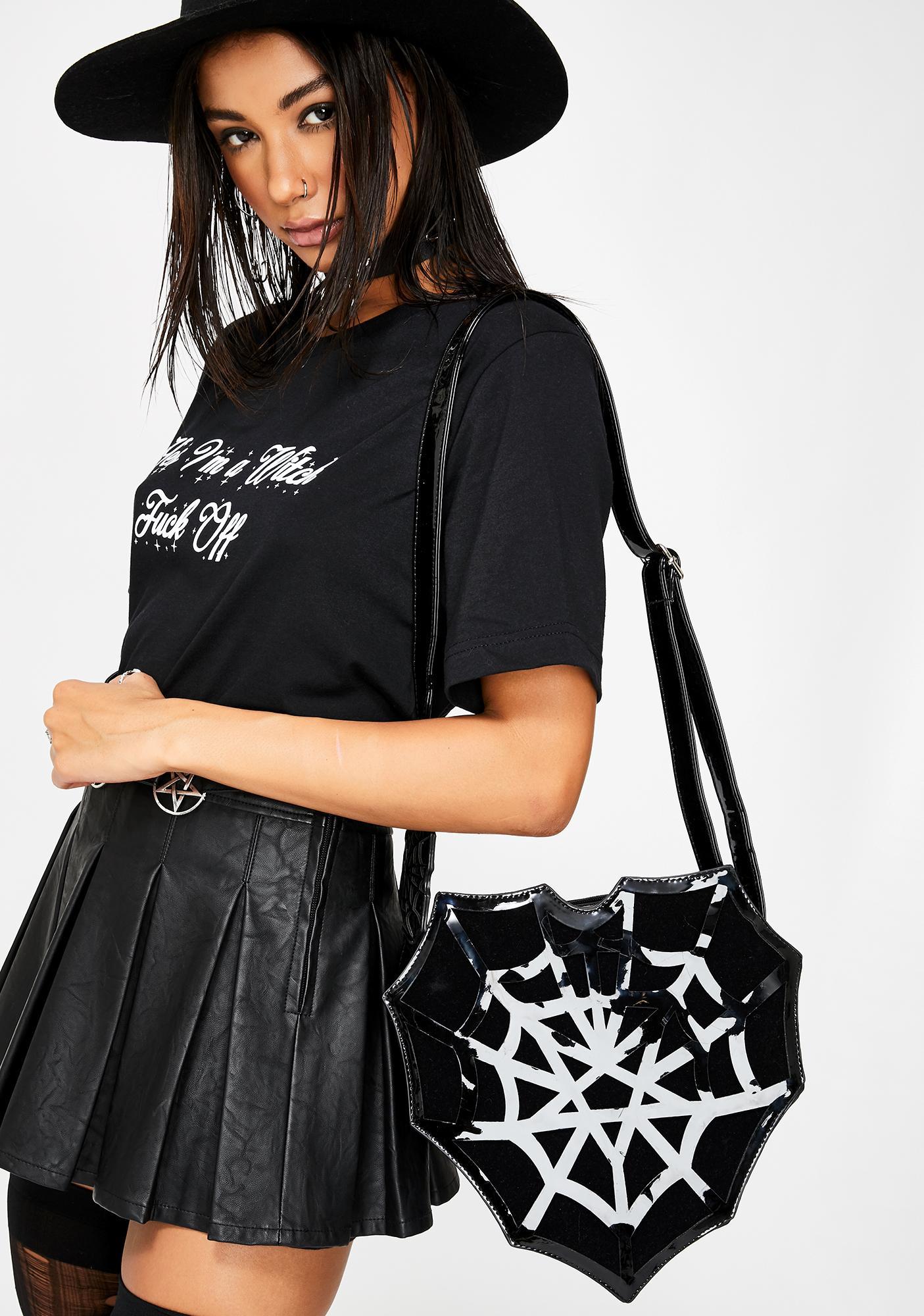 Restyle Spiderweb Heart Bag