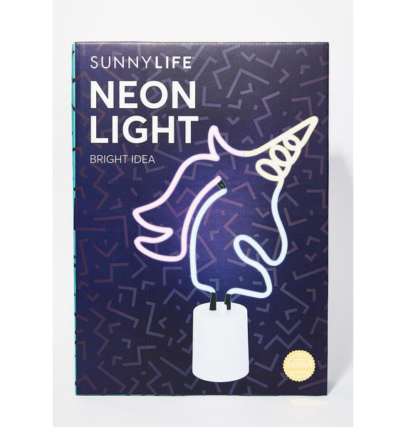 Large Unicorn Neon Light