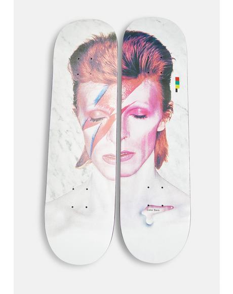 X David Bowie Aladdin Sane Skate Deck Set