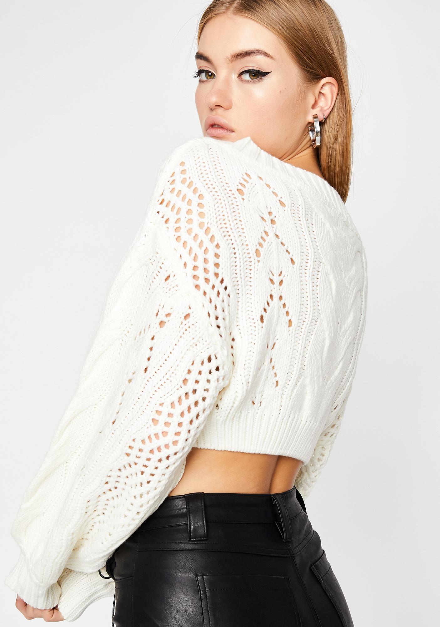 Pure Slay Season Crop Sweater
