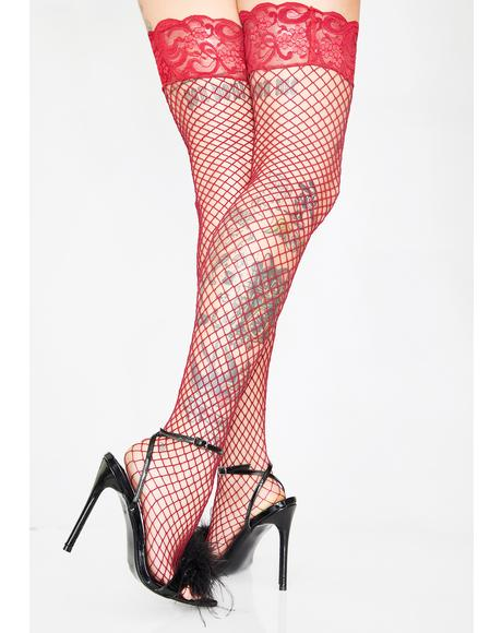 Mamasita Fishnet Thigh Highs