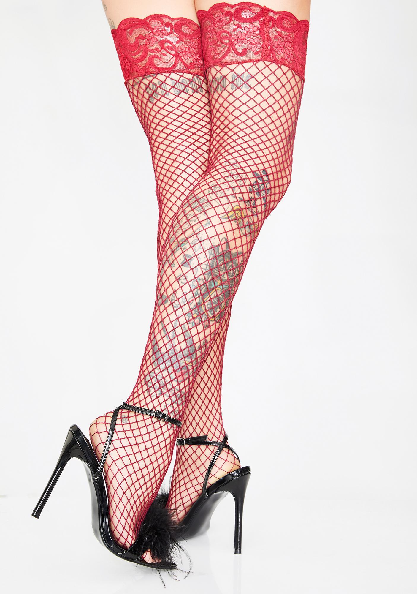 Mamasita Fishnet Thigh Highs