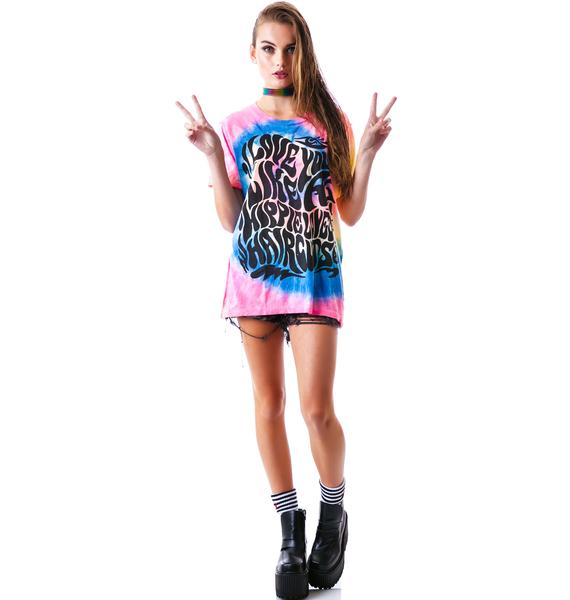 UNIF Hippie Love Short Sleeve Tee