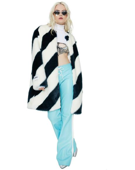 Teal Stripe Chloe Coat
